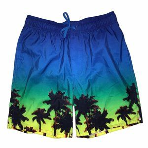 Old Navy Hawaiian Palm Tree Swim Trunks Men's S